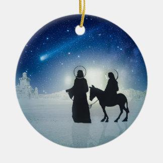 Ornamento De Cerâmica História Mary e Jesus do Natal