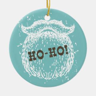 Ornamento De Cerâmica Ho-Ho papai noel Noel do feriado do Natal