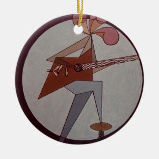 Ornamento De Cerâmica Homem 1975 da guitarra