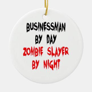 Ornamento De Cerâmica Homem de negócios do assassino do zombi