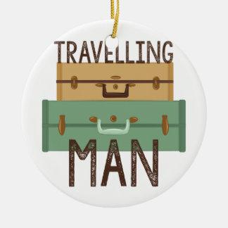 Ornamento De Cerâmica Homem de viagem