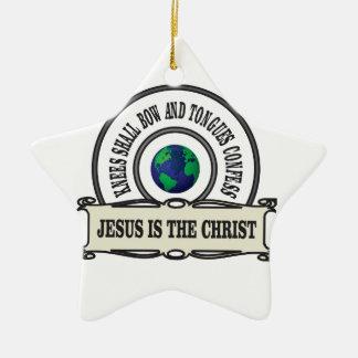 Ornamento De Cerâmica Homem do salvador do cristo de Jeus