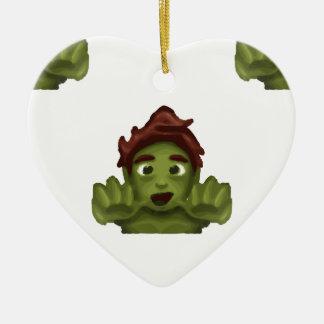 Ornamento De Cerâmica homem do zombi do emoji