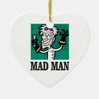 Ornamento De Cerâmica homem louco magro