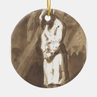 Ornamento De Cerâmica Homem pendurado