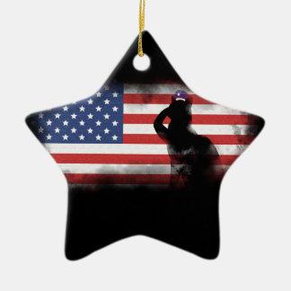 Ornamento De Cerâmica Honre nossos heróis no Memorial Day