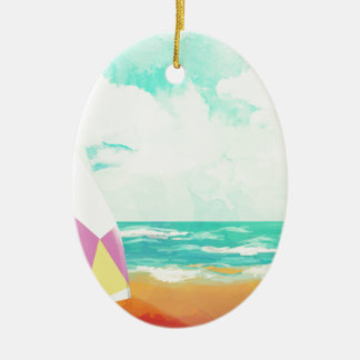 Ornamento De Cerâmica Hora para surfar!