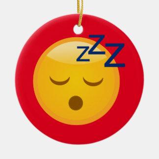 Ornamento De Cerâmica Horas de dormir cansados Emoji