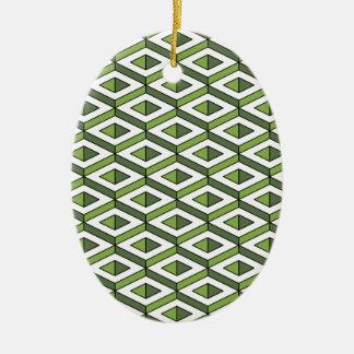Ornamento De Cerâmica hortaliças e couve da geometria 3d