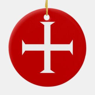 Ornamento De Cerâmica hospitall teutonic templar de malta da cruz