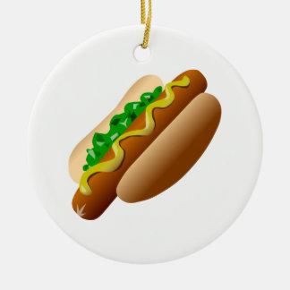 Ornamento De Cerâmica Hotdog