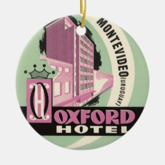 Ornamento De Cerâmica Hotel de Oxford, Montevideo, Uruguai, viagens