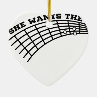Ornamento De Cerâmica humor da guitarra