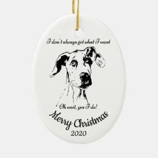 Ornamento De Cerâmica Humor datado feito sob encomenda do cão de great