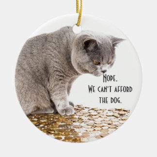 Ornamento De Cerâmica Humor do gato e do cão