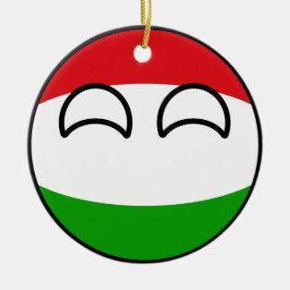 Ornamento De Cerâmica Hungria Geeky de tensão engraçada Countryball