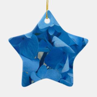 Ornamento De Cerâmica Hydrangeas azuis