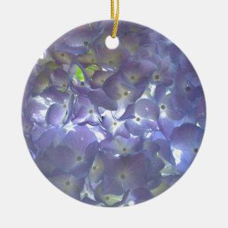 Ornamento De Cerâmica Hydrangeas da lavanda