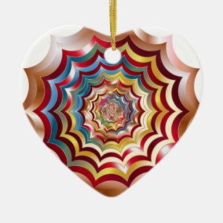 Ornamento De Cerâmica hypnotic da Web de aranha revitalized