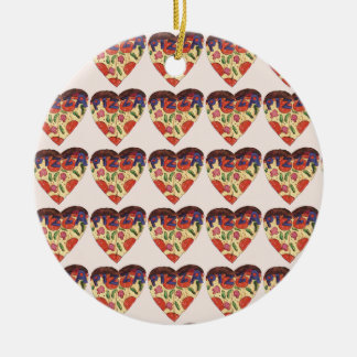Ornamento De Cerâmica i love pizza