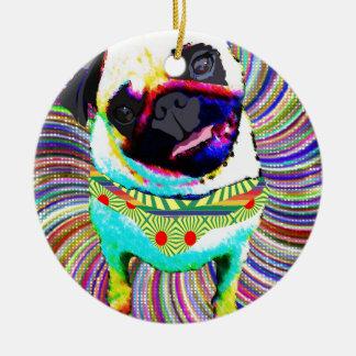 Ornamento De Cerâmica I love PUG