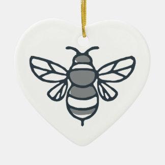 Ornamento De Cerâmica Ícone da abelha do zangão
