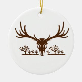Ornamento De Cerâmica Ícone da árvore de Joshua do crânio dos cervos de