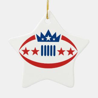 Ornamento De Cerâmica Ícone da estrela da coroa da bola do futebol