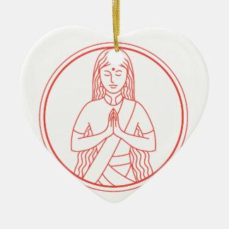 Ornamento De Cerâmica Ícone de Namaste
