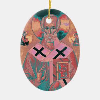 Ornamento De Cerâmica Ícone de Nicholas do santo