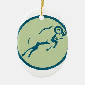 Ornamento De Cerâmica Ícone de salto do círculo dos carneiros de