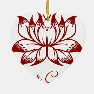 Ornamento De Cerâmica Ícone do conceito de design floral da flor