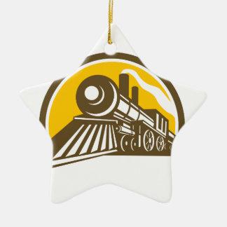 Ornamento De Cerâmica Ícone do trem da locomotiva de vapor