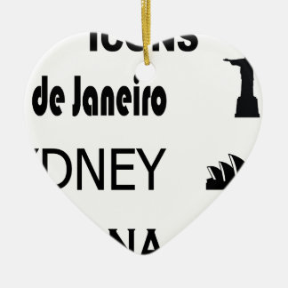 Ornamento De Cerâmica Ícone-Rio-Sidney