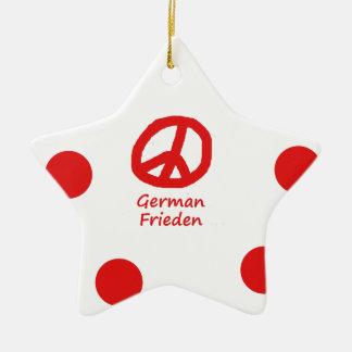 Ornamento De Cerâmica Idioma alemão e design do símbolo de paz
