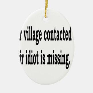 Ornamento De Cerâmica Idiota da vila