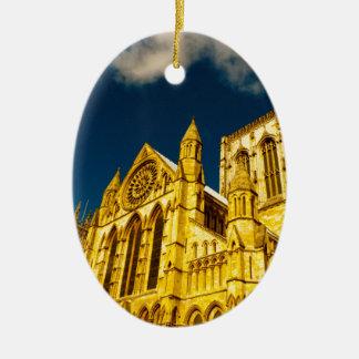 Ornamento De Cerâmica Igreja da cidade de York aumentada
