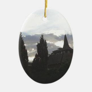 Ornamento De Cerâmica Igreja do por do sol