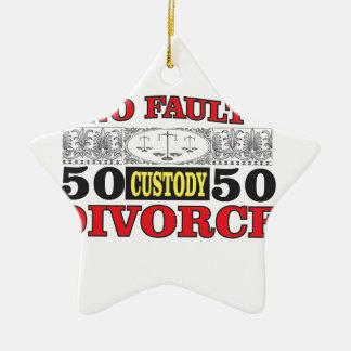 Ornamento De Cerâmica igualdade 50 do divórcio 50 da no-falha