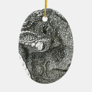 Ornamento De Cerâmica Iguana