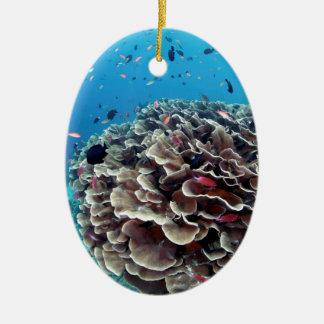 Ornamento De Cerâmica Ilha coral