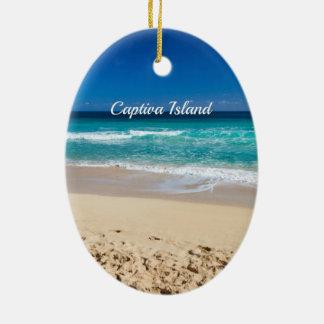 Ornamento De Cerâmica Ilha de Captiva, Florida