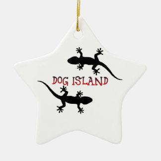 Ornamento De Cerâmica Ilha Florida. do cão