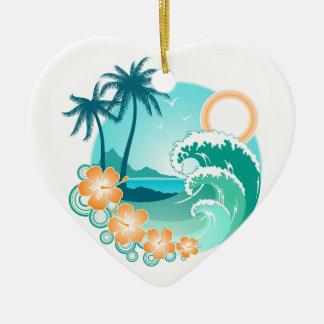 Ornamento De Cerâmica Ilha havaiana 1