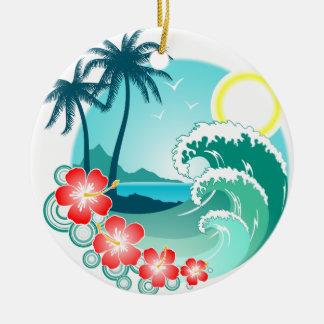 Ornamento De Cerâmica Ilha havaiana 2
