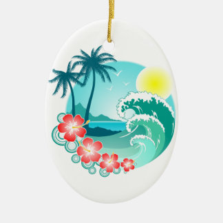 Ornamento De Cerâmica Ilha havaiana 3