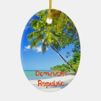 Ornamento De Cerâmica Ilha tropical na República Dominicana