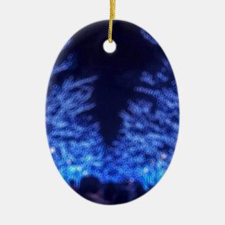 Ornamento De Cerâmica Iluminação obscura do inverno