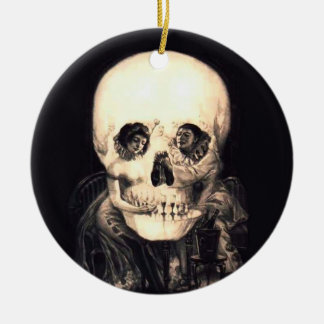 Ornamento De Cerâmica Ilusão do crânio