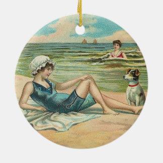 Ornamento De Cerâmica Ilustração antiga Beachy do litoral